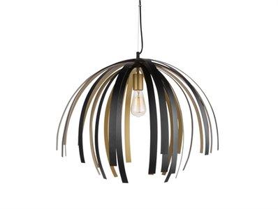 Lamp aluminium goud/zwart