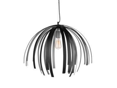 Lamp aluminium zilver/zwart