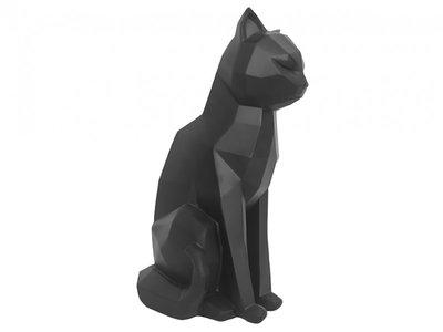 zwarte kat zittend